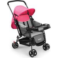 Carrinho De Bebê Berço Com Bandeja Nap Weego Rosa - 4013 4013