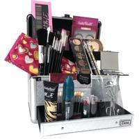 Maleta De Maquiagem Grande Kit De Maquiagem Completo Profissional Ruby Rose L2 Cinza