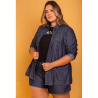 Camisa Jeans Feminina Domenica Solazzo
