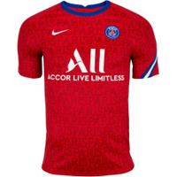 Camisa Pré-Jogo Psg 20/21 Nike - Masculina - Vermelho/Branco
