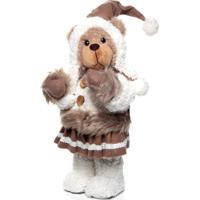 Urso De Decoraã§Ã£O Para Natal Com 37Cm 1 Unidade Cor Marrom - Branco/Vermelho - Dafiti