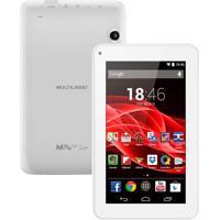 Tablet Multilaser Nb200 Supra - Tela 7, Processador Quad Core, 8Gb De Memória, Android 4.4, Wi-Fi, Suporte À Modem 3G, Câmera De 2Mp +Frontal - Branco