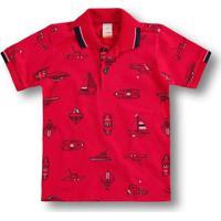 Camisa Polo Marisol Infantil - 10316313I Vermelho