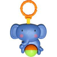Chocalho Elefante - Azul & Laranja- 22,5X14X5Cm Dican
