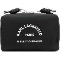 Karl Lagerfeld Necessaire Com Estampa Address - Preto