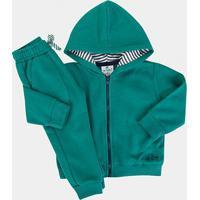 Conjunto Infantil Up Baby Moletom Masculino - Masculino-Verde