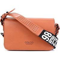 Bolsa Colcci Flap Crossbody Sporting Feminina - Feminino-Caramelo