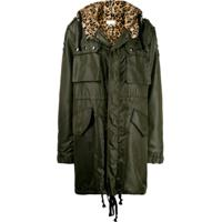 Faith Connexion Leopard Hooded Parka - Verde