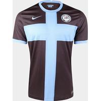 Camisa Corinthians Iii 20/21 S/N° Torcedor Nike Masculina - Masculino-Marrom+Azul
