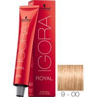 Coloração Schwarzkopf Igora Royal 9-00 Louro Extra Claro Natural Extra 60G