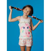 Pijama Curto Regata Gata Teen 8