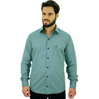 Camisa Ml Confort Fio Tinto Polo From England Verde S Verde