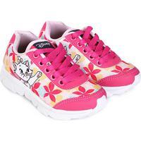 Tênis Infantil Disney Marie Feminino - Feminino-Pink