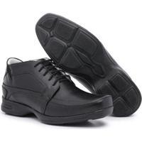 Sapato Social Bergally Anti-Stress Marrom - Masculino-Preto
