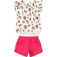 Conjunto Infantil Frutinhas Rosa