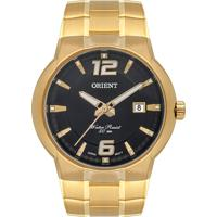 Relógio Orient Masculino Mgss1187 P2Kx Pulseira E Caixa Aço Dourada Mostrador Preto