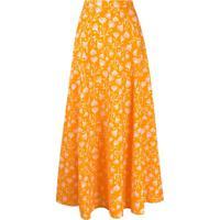 C'Est La V.It Floral Maxi Skirt - Laranja