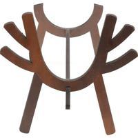 Adega Deer Woodart Para 1 Garrafa- Marrom Escuro- 21Rojemac