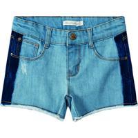 Short Jeans Com PuãDos - Azul Claro & Azul Escurolilica Ripilica E Tigor T. Tigre