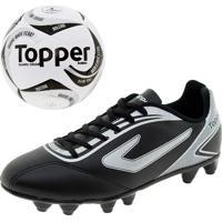 c86b15e5e5 Kit 1 Chuteira Masculina Campo Topper + Bola Futsal Toper - 4201343