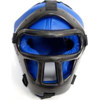Capacete/Protetor De Cabeça Jugui Com Grade Azul