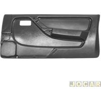 Revestimento De Porta - Alternativo - Monza 1991 Até 1996 - 2 Portas - Preto - Lado Do Passageiro - Cada (Unidade)