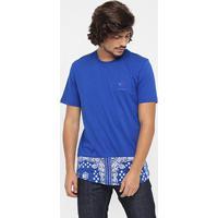 Camiseta Reebok Bandana Print - Masculino-Azul