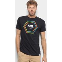 Camiseta Hd Long Vortex Masculina - Masculino-Preto