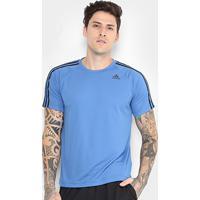 Camiseta Adidas D2M 3Stripes Mc Masculina - Masculino