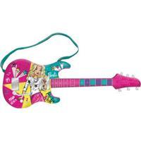 Guitarra Musical Com Mp3 Player - Barbie - Guitarra Fabulosa - Modelo Novo - Fun