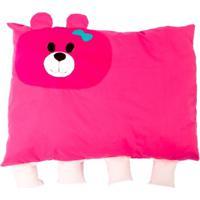 Travesseiro De Urso Colo De Mãe + Fronha Rosa