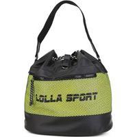 Bolsa Santa Lolla Sport Saco Nylon Feminina - Feminino-Amarelo