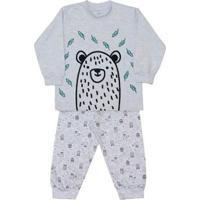 Pijama Infantil Dedeka Moletinho Bichos Do Bosque Masculino - Masculino-Cinza