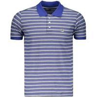 Camisa Fila Polo Custom Masculina - Masculino-Marinho