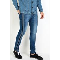 Calça Actual Jeans Com Cadarço Lateral