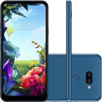 """Smartphone Lg K40S Azul 32Gb 3Gb De Ram Tela De 6,1"""" Octa Core Camera"""