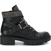 Tosca Blu Embellished Ankle Boots - Preto