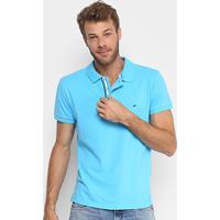 Camisa Polo Gangster Piquet Com Elastano Masculina - Masculino-Azul Claro