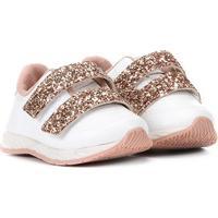 Tênis Molekinha Velcro Glitter Feminino - Feminino