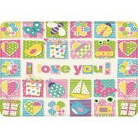 Tapete De Atividades Infantil I Love You Color Único Love Decor