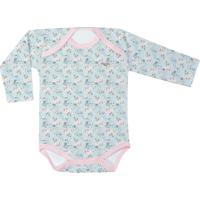 Body Floral Com Recorte- Azul & Rosa- Batistelabatistela