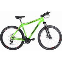 Bicicleta Aro 29 Alum 21V Verde Neon Suspensão Track Bikes