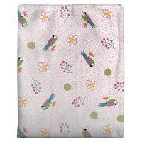 Cobertor Em Algodáo Para Bebê Arara Rosa 70 X 90Cm Rosa