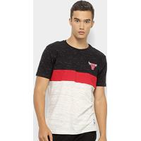 Camiseta Nba Chicago Bulls Block Colors Masculina - Masculino