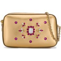 Dolce & Gabbana Kids Bolsa Tiracolo Com Aplicações - Dourado