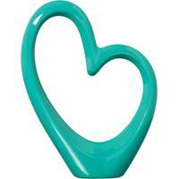 Coração Azul Turquesa