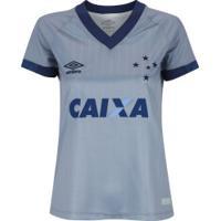 Camisa Do Cruzeiro Iii 2018 Umbro - Feminina - Cinza/Azul Esc