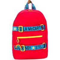 Stella Mccartney Kids Mochila Com Logo Na Alça - Vermelho