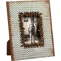 Porta-Retrato De Madeira Decorativo Com Strass Waves