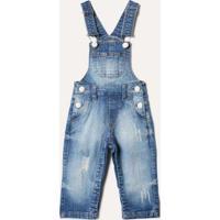 Macacão Bb Jeans Reserva Mini Azul